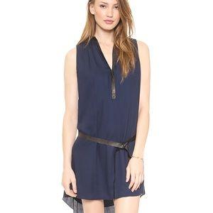 Alice + Olivia Berk Leather Combo dress